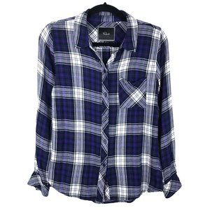 Rails Hunter Plaid Flannel Button Down Shirt XS
